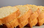 stock photo of pound cake  - close up on pound cake - JPG