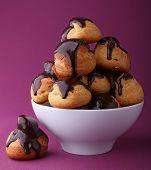 french choux, chocolate profiteroles