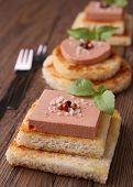 toast with foie gras
