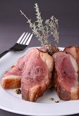 stock photo of roast duck  - roasted duck breast - JPG