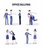 Vector Office Harassment, Bully Men Mocking Victim poster