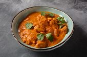 Chiken Tikka Masala - Traditional Indian/british Dish. Chicken With Curry, Turmeric. Indian Dinner C poster