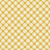Yellow Geometric Seamless Pattern With Small Round Grid, Mesh, Net, Weave, Lattice. Simple Texture I poster