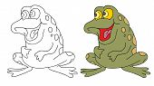 Coloring Pages For Childrens With Funny Animals, Funny Frog poster