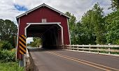 Red Covered Bridge - Shimanek