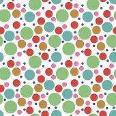 Round Seamless Pattern. Seamless Retro Circle Pattern. Dotted Round Seamless Background, Pattern, Or poster