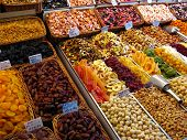 Sweets And Dried Fruits In The Market