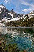 Morskie Oko Lake In Polish Tatra Mountains poster