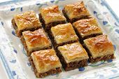 image of phyllo dough  - homemade baklava - JPG