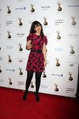 LOS ANGELES - SEP 21:  Zooey Deschanel arrives at the Primetime Emmys Performers Nominee Reception a