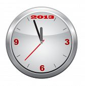 Clock to 2013,  New Year, vector.
