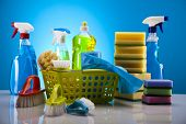 stock photo of disinfection  - Set of cleaning products - JPG