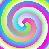 Colorful neon spiral