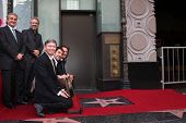 LOS ANGELES - NOV 8:  Javier Bardem, Chamber Officials, Sam Mendes at the Hollywood Walk of Fame Sta