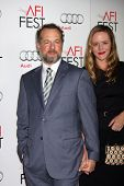 LOS ANGELES - NOV 8:  David Costabile, Eliza Baldi arrives at the