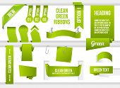 stock photo of bundle  - Bundle of Green Web Elements - JPG