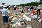 MOSCOW - JULY 7: Weekend flea market