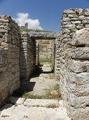 Street leading to the amphitheater of  Rhodiapolis.