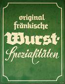 German Sausage Sign
