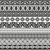 image of aztec  - Tribal seamless pattern  - JPG