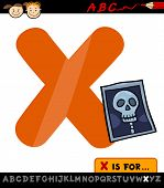 picture of letter x  - Cartoon Illustration of Capital Letter X from Alphabet with X - JPG
