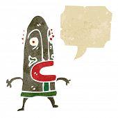 Постер, плакат: Ретро Мультфильм человек в племенная маска