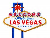 stock photo of las vegas casino  - Welcome to Fabulous Las Vegas isolated sign - JPG