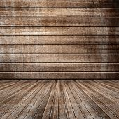 Textured background of wooden room with good texture.
