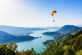 picture of annecy  - View of the Annecy lake from Col du Forclaz - JPG