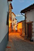 pic of ares  - Streets of the old town Ares in Spain - JPG