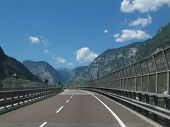 Highway Near Trento, Italy