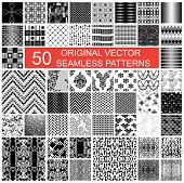 pic of fifties  - fifty original vector seamless pattern texture backgrounds - JPG