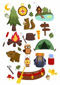 Camping Set.eps Vector