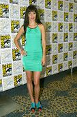 SAN DIEGO, CA - JULY 20: Ksenia Solo arrives at the 2013 Comic Con press room at the Hilton San Dieg