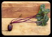 Red Beet on Cutting Board