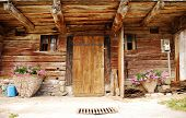 Wooden Friulian Farm Building Door