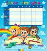 School timetable thematic image 7 - eps10 vector illustration.