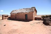 Abandoned clay house in Bolivian Altiplano
