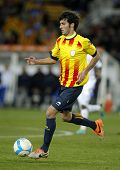 BARCELONA - DEC, 30: Catalan player Marc Valiente of FC Barcelona in action during the friendly matc