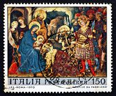 Postage Stamp Italy 1970 Adoration Of The Kings