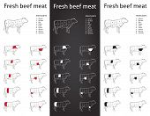 Fresh Beef meat parts