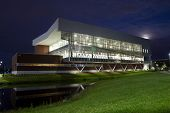JACKSONVILLE, FLORIDA, USA- NOVEMBER 17, 2013: University of North Florida Student Wellness Complex at dusk. The complex is a 19.5 million dollar facility with three levels and 82,000 square feet.