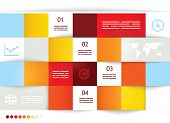 Geometrical brochure template with square fields for input