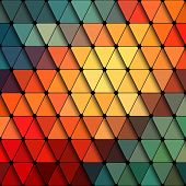 image of psychedelic  - Vector Abstract Triangle Background - JPG