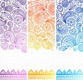 Beautiful floral set of banners
