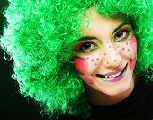 crazy woman with creative visage
