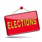 stock photo of freedom speech  - elections free election for new democracy local national voting poll - JPG