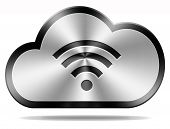 cloud computing wireless connection wifi icon or button
