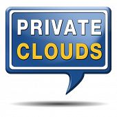 private clouds cloud computing resources for storage and exchange of data on online database softwar