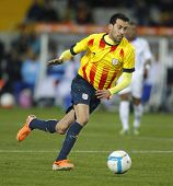 BARCELONA - DEC, 30: Catalan player Sergio Busquets of FC Barcelona in action during the friendly ma
